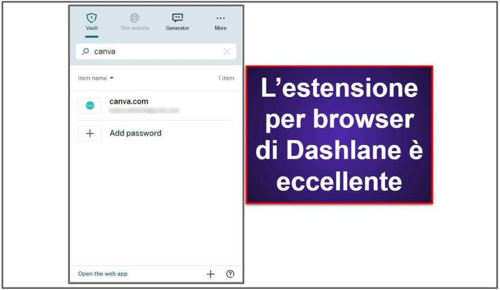 Usabilità e configurazione di Dashlane