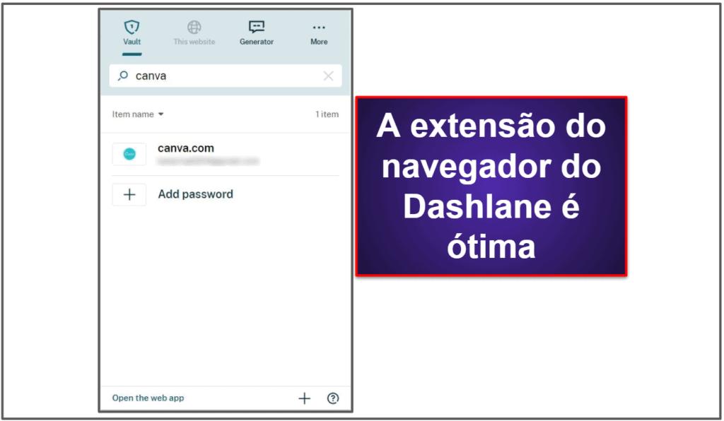 O Dashlane é fácil de usar e de configurar