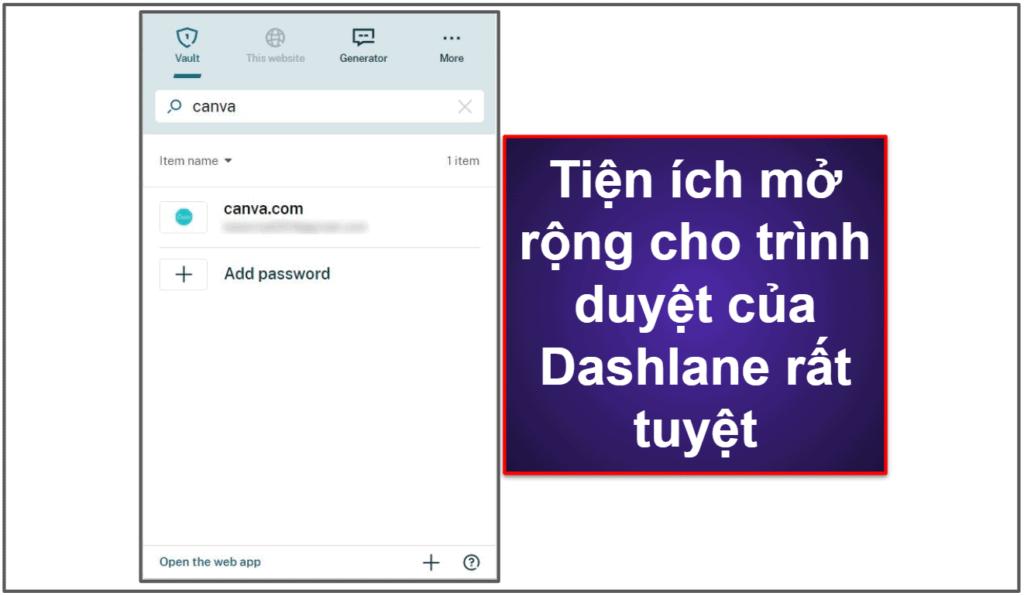 Dashlane dễ sử dụng và thiết lập
