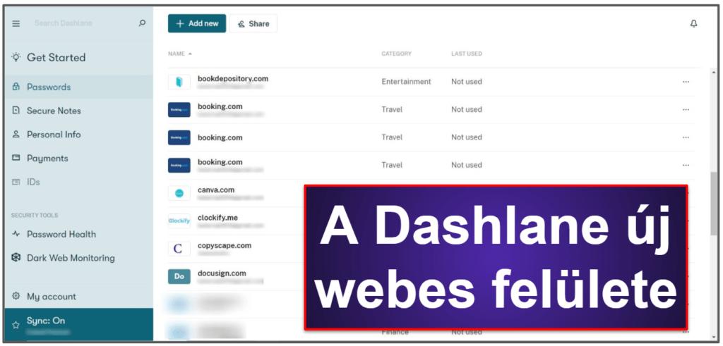 A Dashlane biztonsági funkcionalitásáról