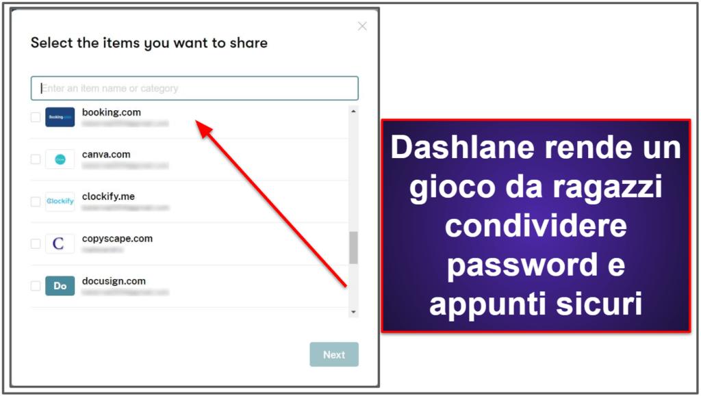 Le funzioni di sicurezza di Dashlane