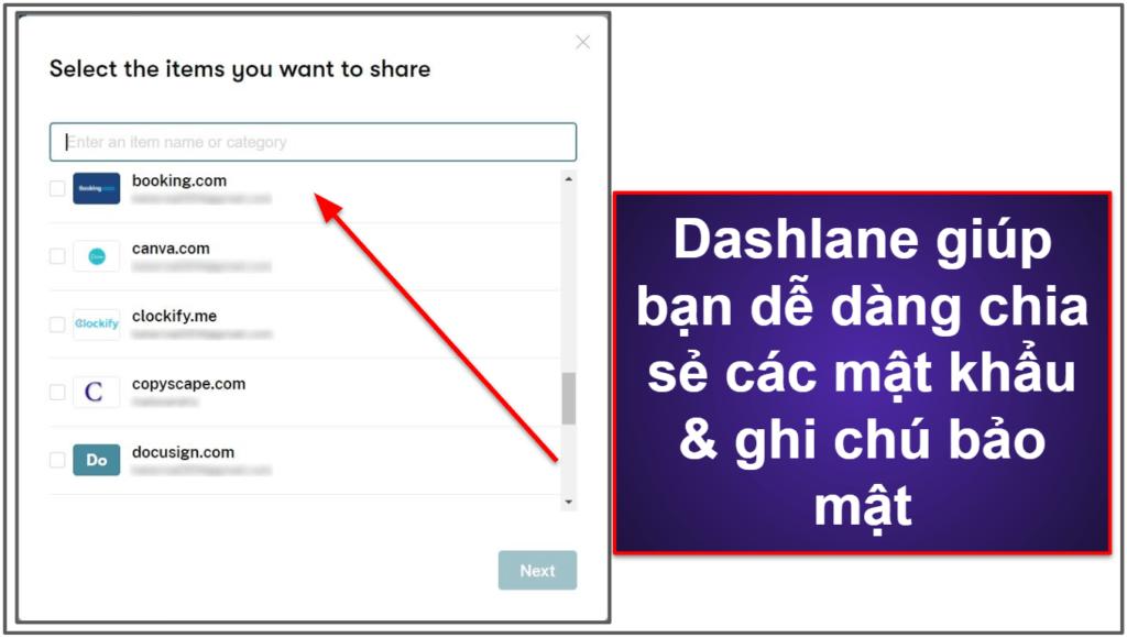 Các tính năng bảo mật của Dashlane