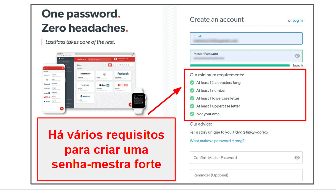 Facilidade de uso e configuração do LastPass