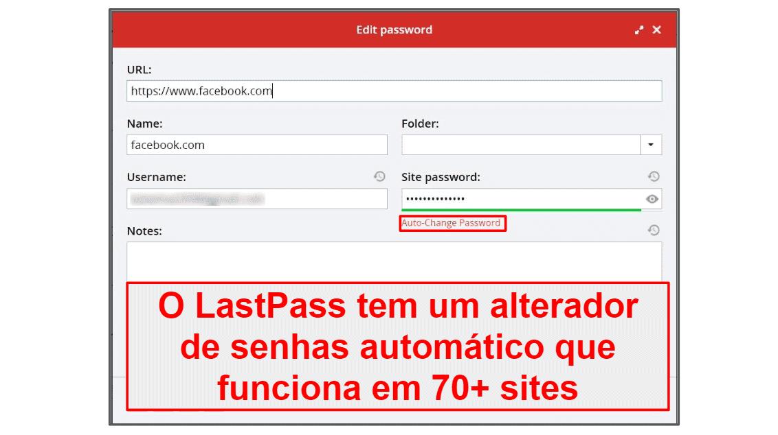 Recursos de segurança do LastPass