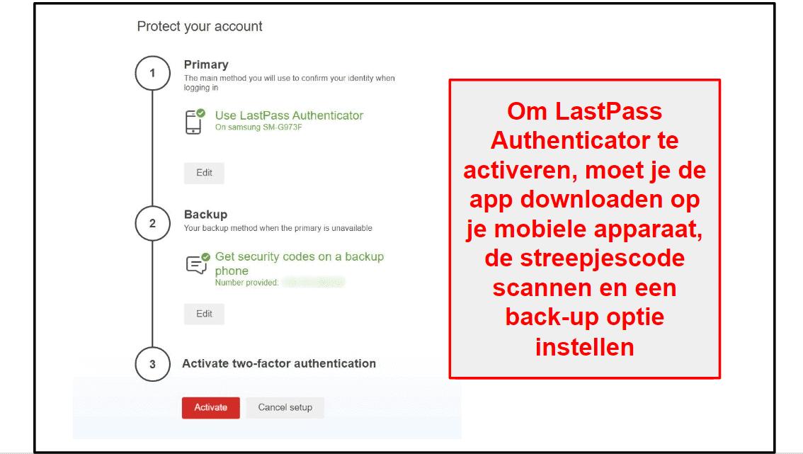 LastPass beveiligingsfuncties
