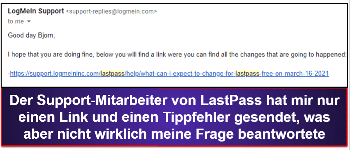 1Password vs. LastPass: Kundensupport
