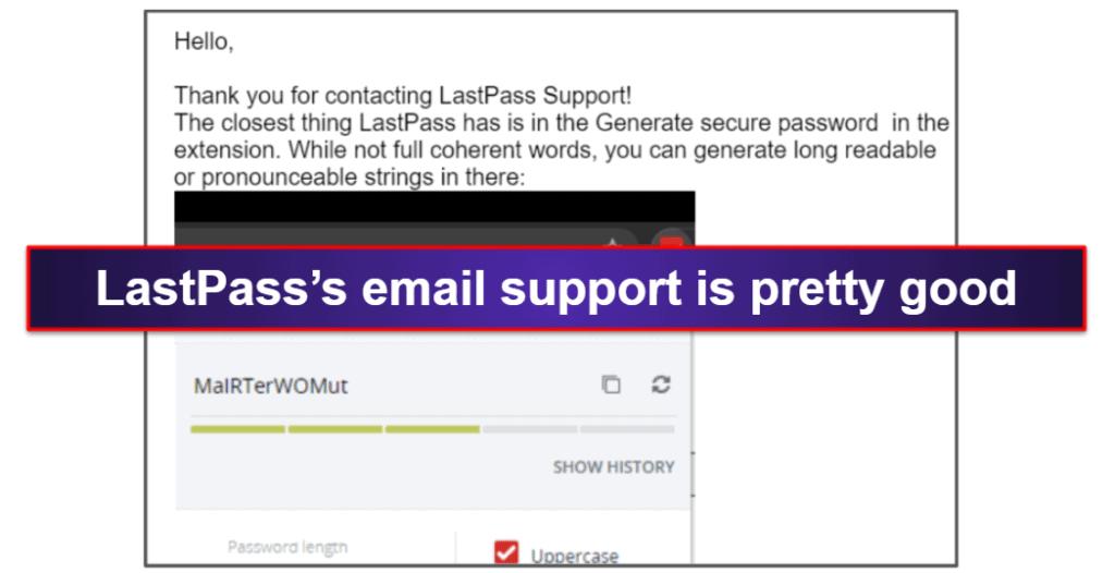 Dashlane vs. LastPass: Customer Support