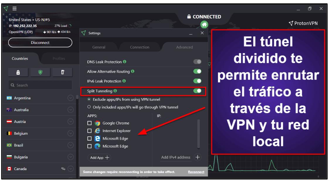 Prestaciones de ProtonVPN