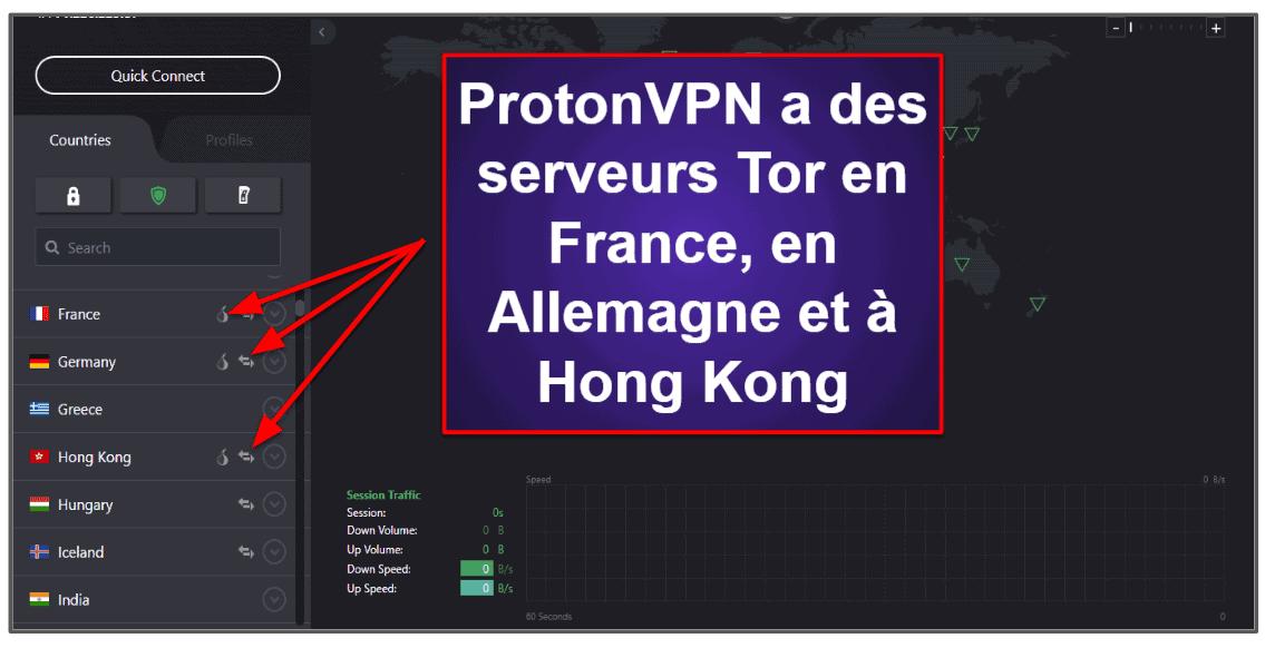 Fonctionnalités de ProtonVPN