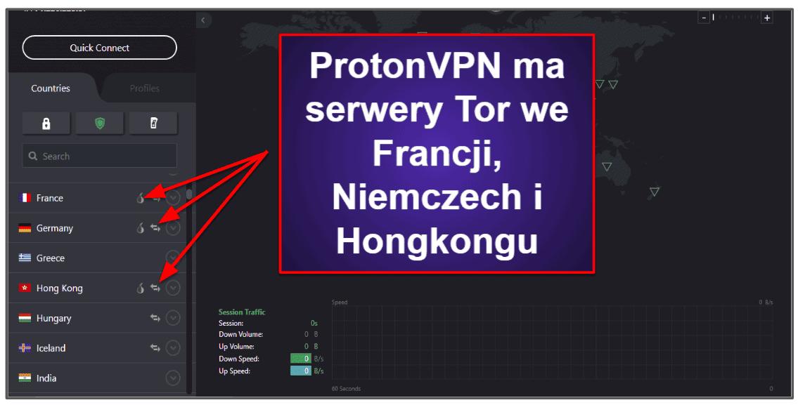 Funkcje ProtonVPN