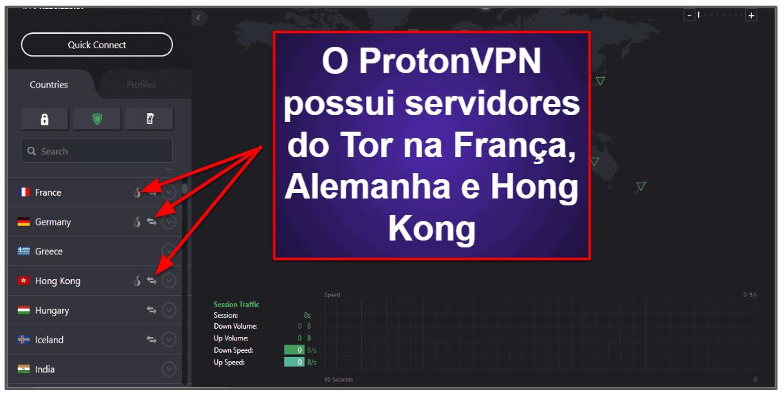 Recursos do ProtonVPN