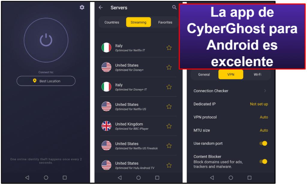Facilidad de uso de CyberGhost VPN: Apps móviles y de ordenador