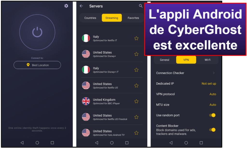 Facilité d'utilisation de CyberGhost VPN : Applis mobiles et de bureau