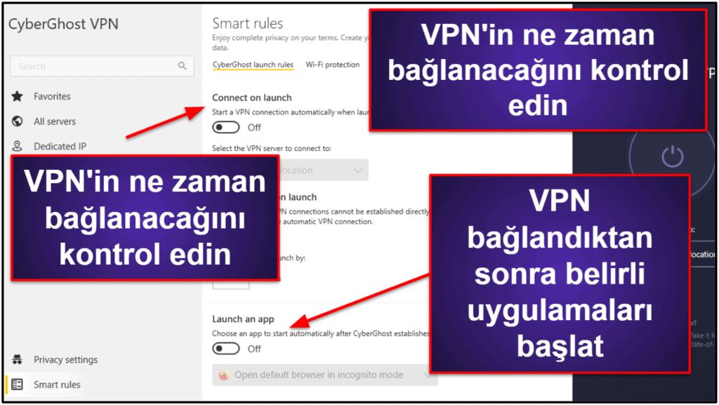 CyberGhost VPN Özellikleri