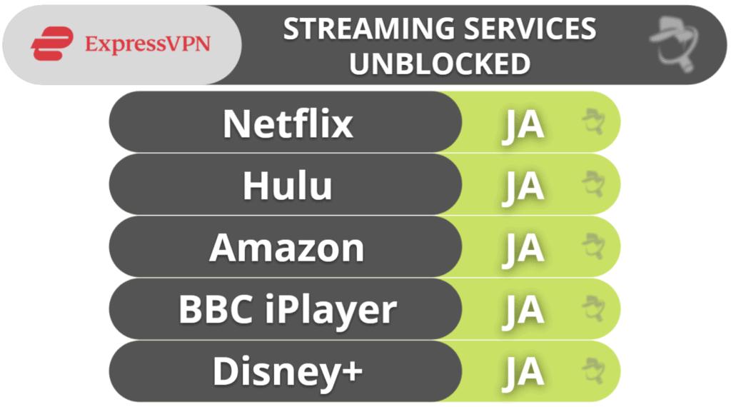 ExpressVPN streaming og torrenting