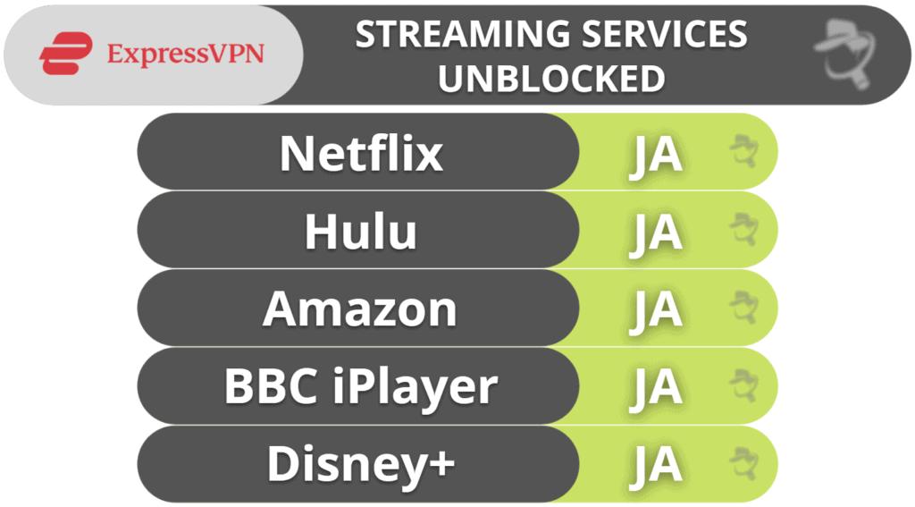 ExpressVPN – Streaming & torrentanvändning