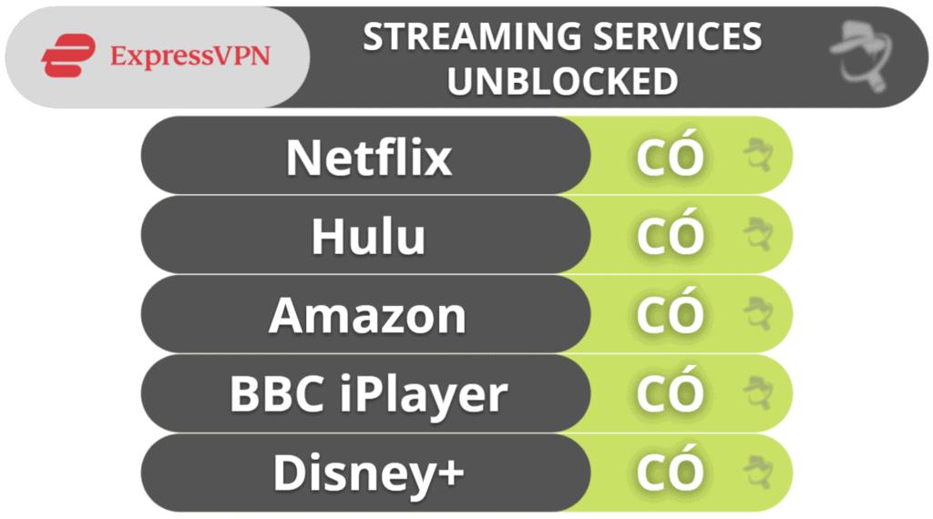 Phát trực tuyến & tải torrent của ExpressVPN