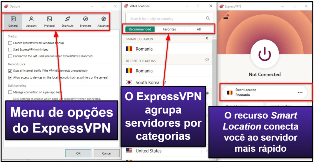 ExpressVPN: facilidade de uso – apps e desktop