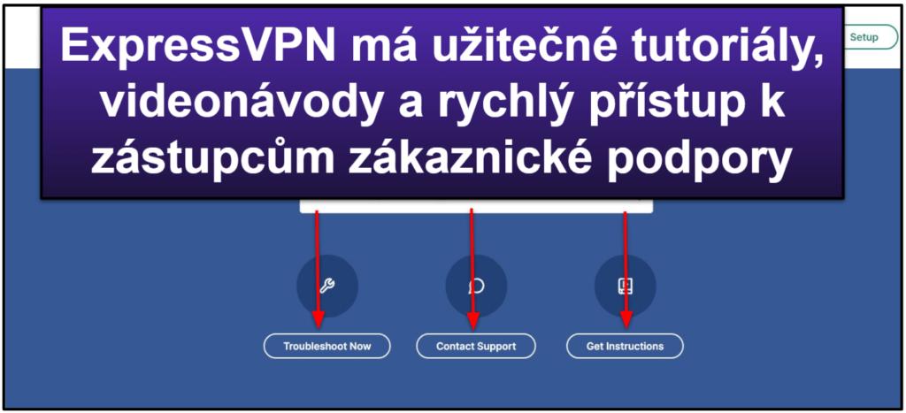Zákaznická podpora ExpressVPN