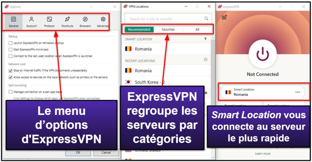 Facilité d'utilisation d'ExpressVPN : Applis mobiles et de bureau