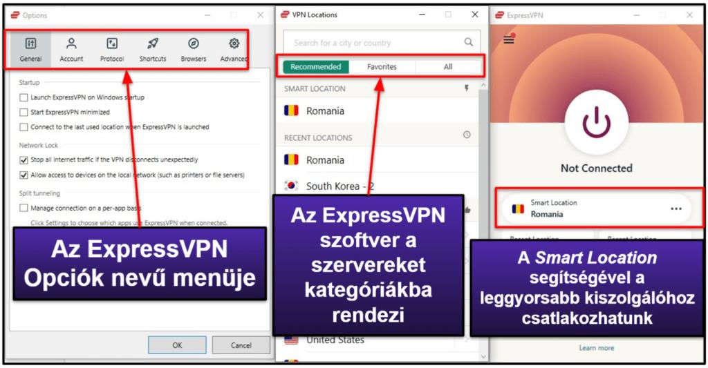ExpressVPN kezelhetőség: mobil & asztali appok