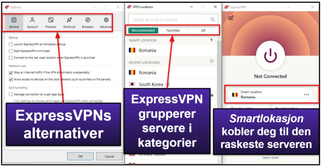 ExpressVPN – mobil- og skrivebordsprogrammer