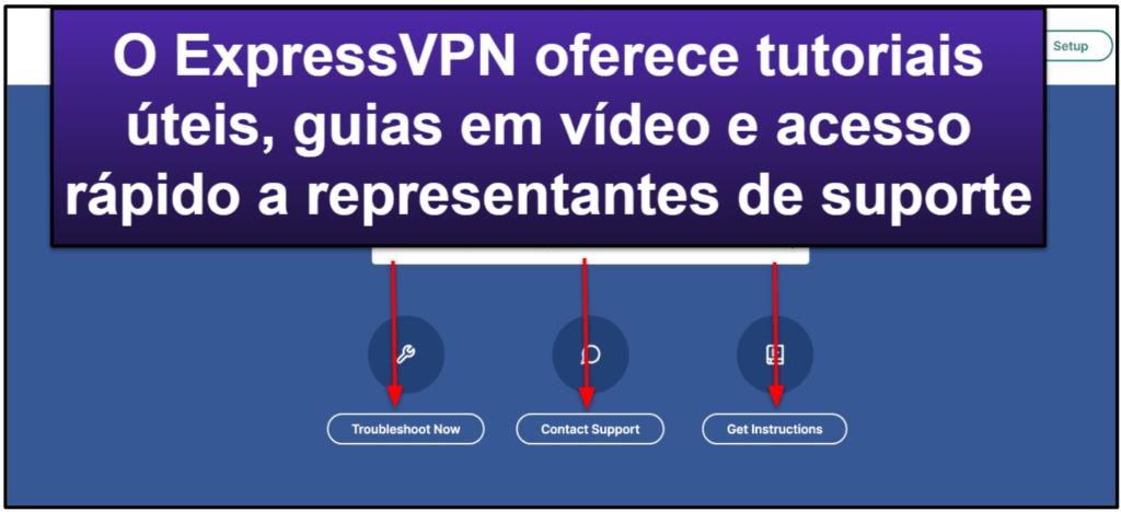Suporte do ExpressVPN