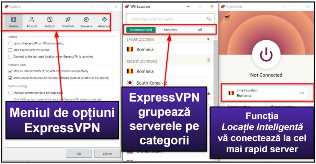 Ușurință de utilizare ExpressVPN: Aplicații pentru mobil și desktop