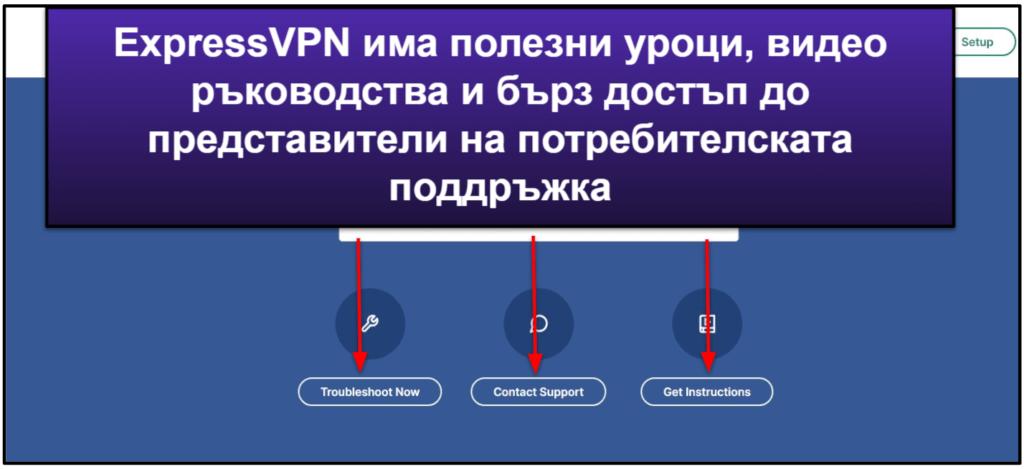 Потребителска поддръжка на ExpressVPN