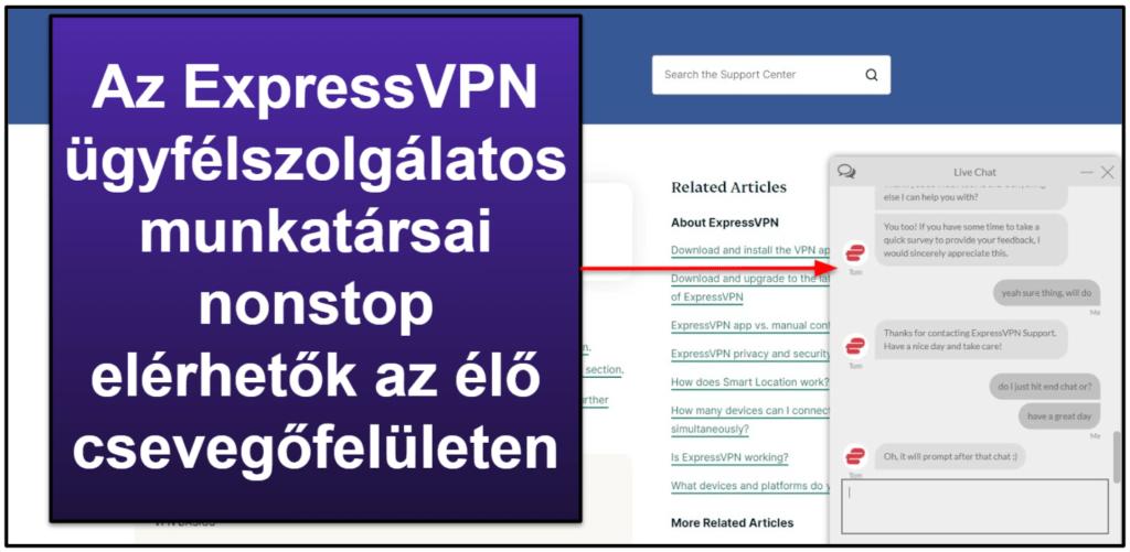 Az ExpressVPN ügyfélszolgálatáról