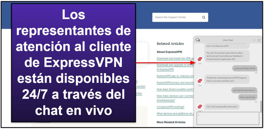 Atención Al Cliente de ExpressVPN
