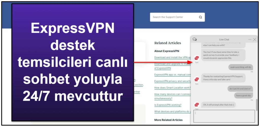 ExpressVPN Müşteri Desteği
