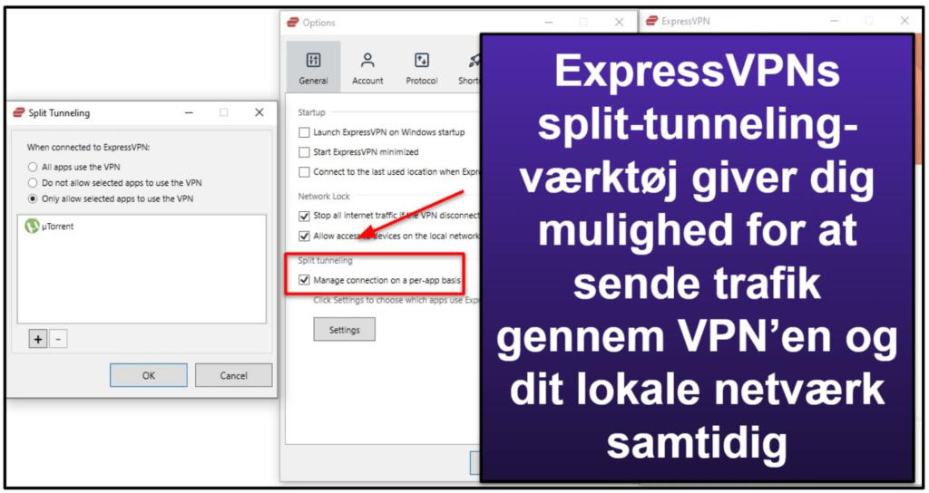 ExpressVPN funktioner
