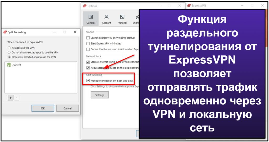 Функции ExpressVPN
