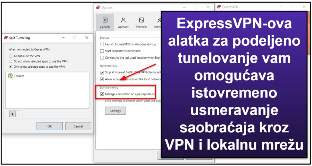 Funkcije ExpressVPN-a: