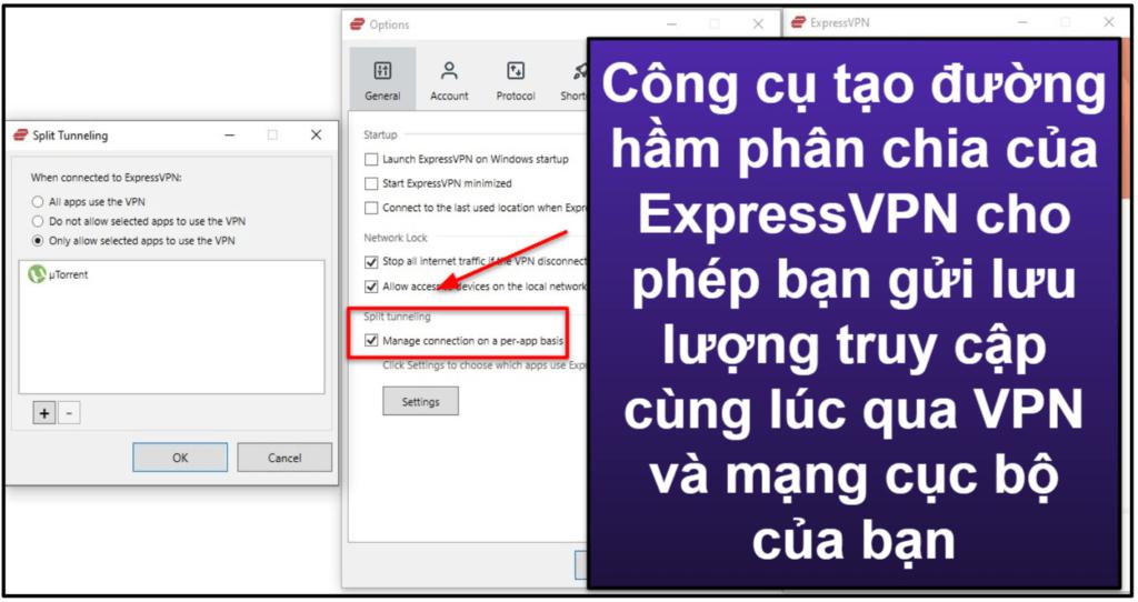 Các tính năng của ExpressVPN