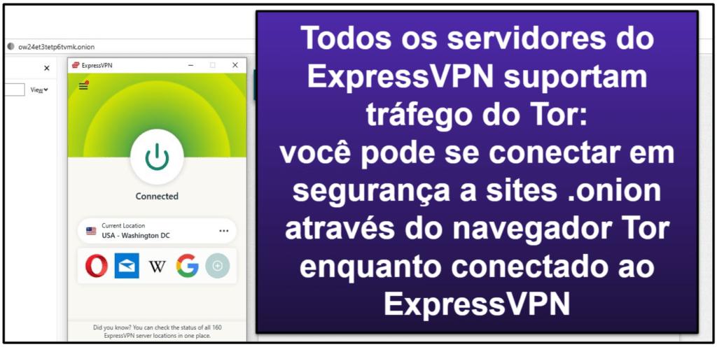 Recursos do ExpressVPN