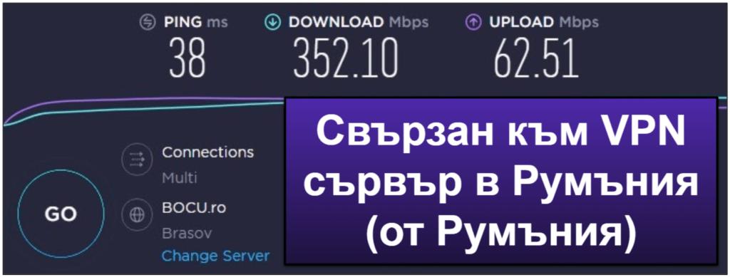 Скорост и производителност на ExpressVPN