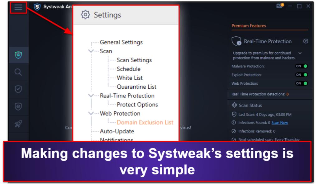 Systweak AntivirusEase of Use and Setup