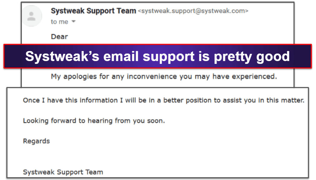 Systweak AntivirusCustomer Support