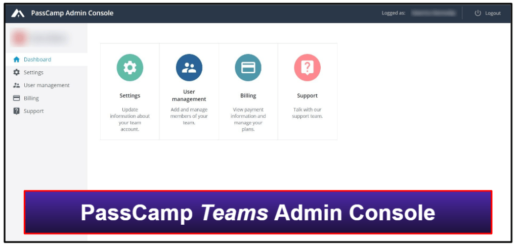 PassCamp Security Features