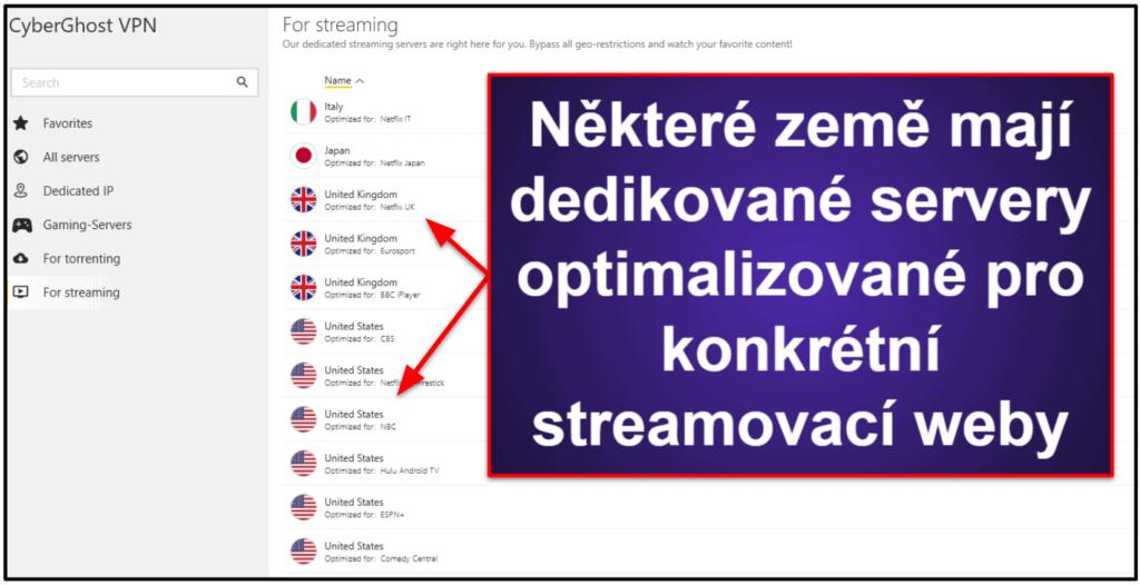 Streamování a torrentování přes CyberGhost VPN