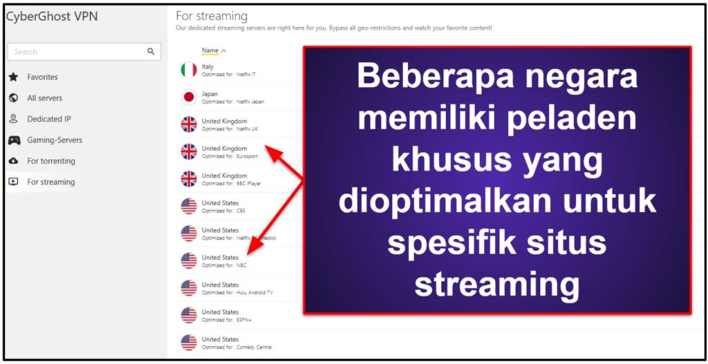 Streaming & Torrent dengan CyberGhost VPN