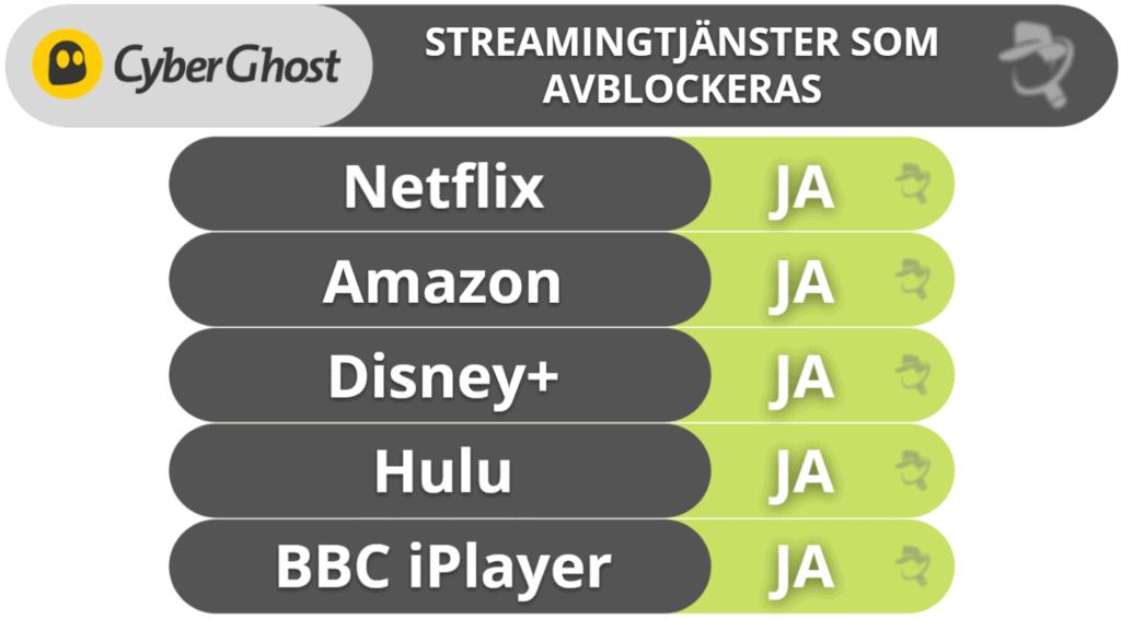 CyberGhost VPN – Streaming & torrentanvändning