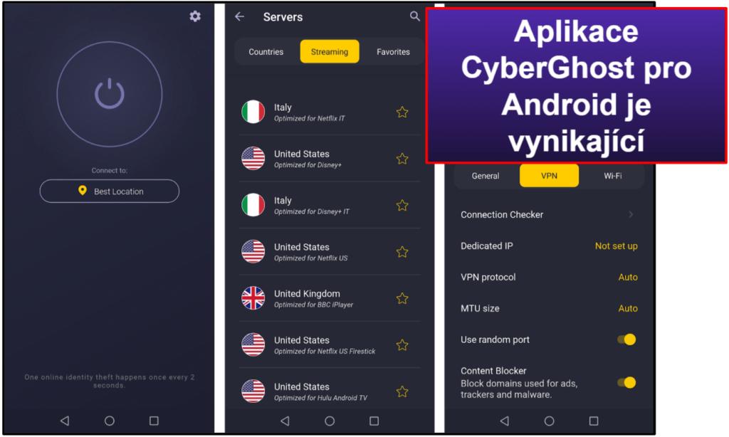 Snadnost použití CyberGhost VPN: mobilní a desktopová aplikace