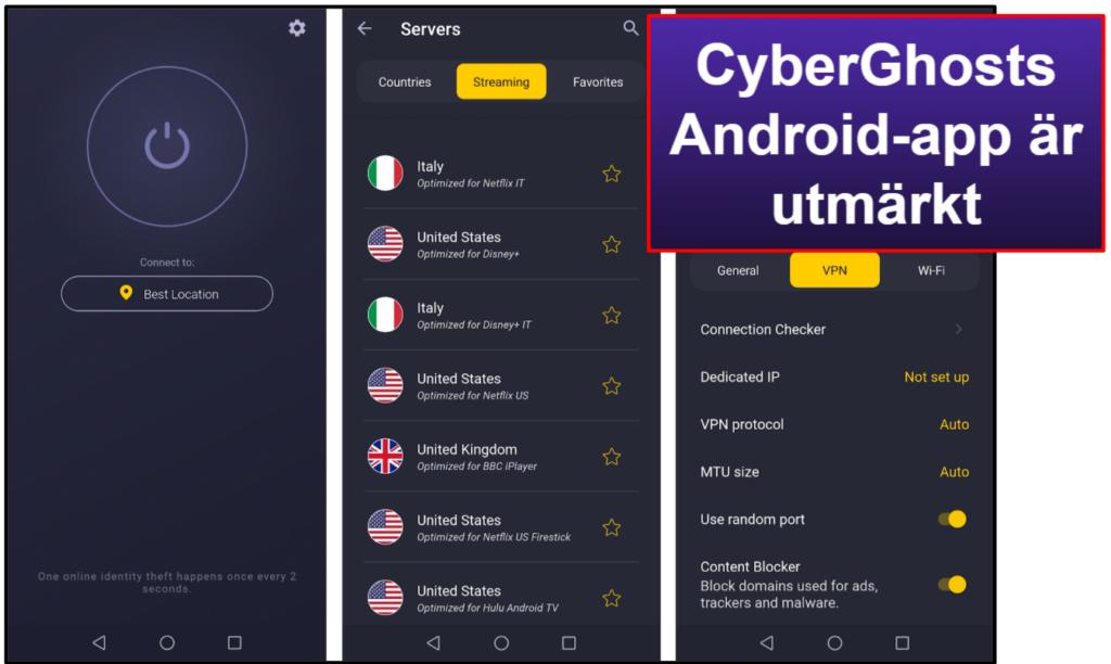 CyberGhost VPN – Appar för mobil + dator