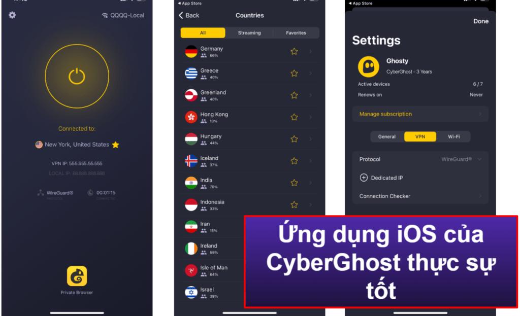Tính dễ sử dụng của CyberGhost VPN: Các ứng dụng cho di động & máy tính bàn