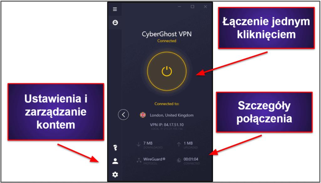 Łatwość użycia CyberGhost VPN: Aplikacje mobilne i desktopowe