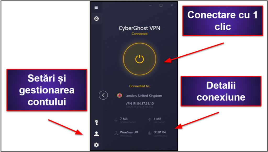 Ușurință de utilizare CyberGhost VPN: Aplicații pentru mobil și desktop