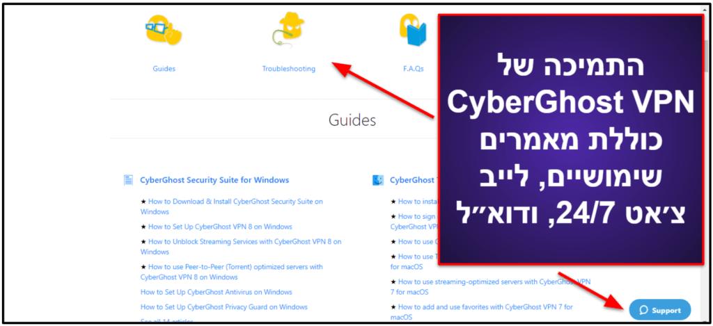 CyberGhost VPN – תמיכת לקוחות